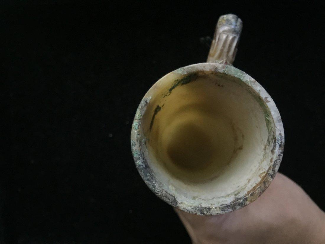 HAN DYNASTY WHITE JADE CUP - 8