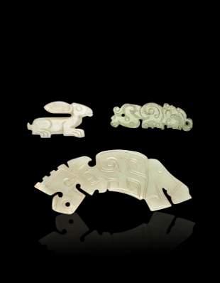 Three Jade Pendant Shang Dynasty(BC1600-1046)