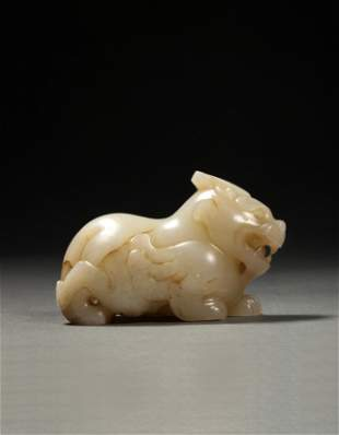 A Chinese White Jade Bixie Han Dynasty(BC202-AD220)