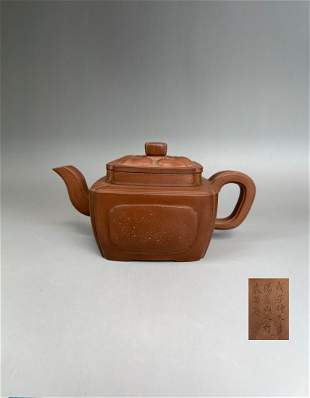 A Chinese Yixing Clay Teapot Late Ming Early Qing