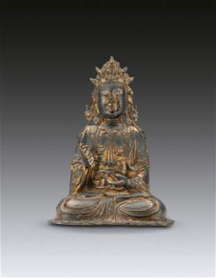 A Bronze Chinese Guanyin Ming Dynasty(1368-1644)