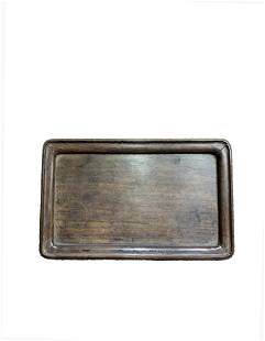 A Chinese Rosewood Plate