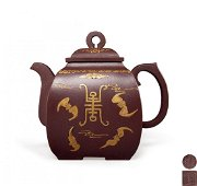 Purple Granulated Teapot
