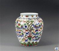 Emperor Wanli Period of Ming Dynasty Famille Verte Vase