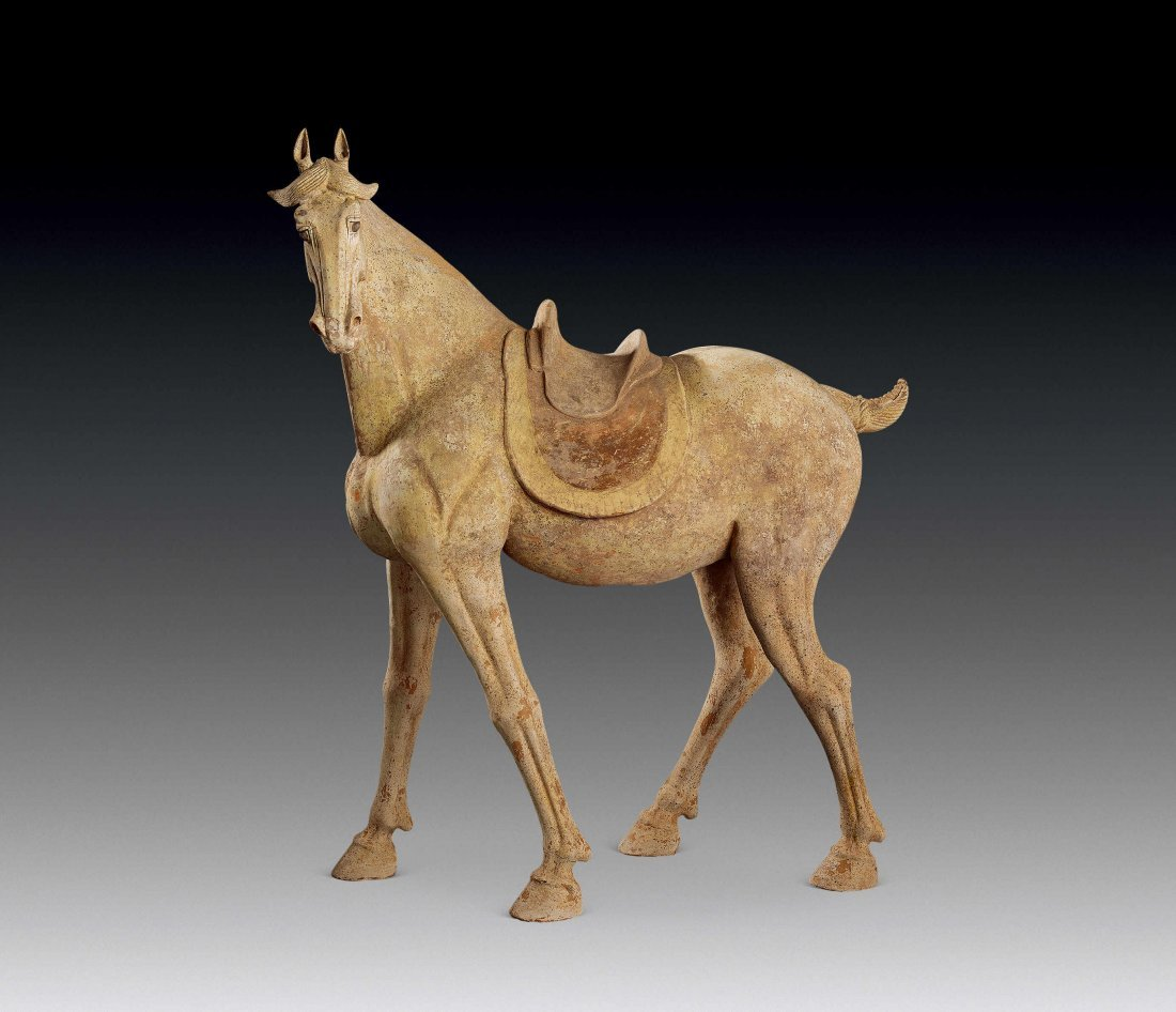 Tang Dynasty Painted Pottery of Horse
