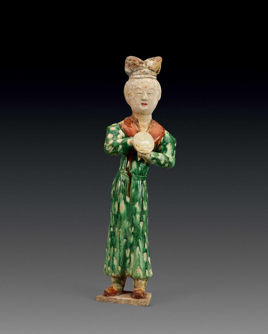 Tang Dynasty Tri-colored Pottery of Female Figurine