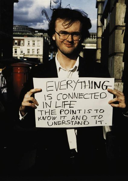 63:  GILLIAN  WEARING  b. 1963  Everything is connected