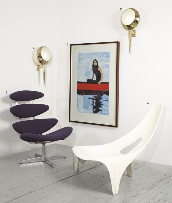 """1003:  POUL  VOLTHER  1923-2001  """"Corona"""" chair, model"""