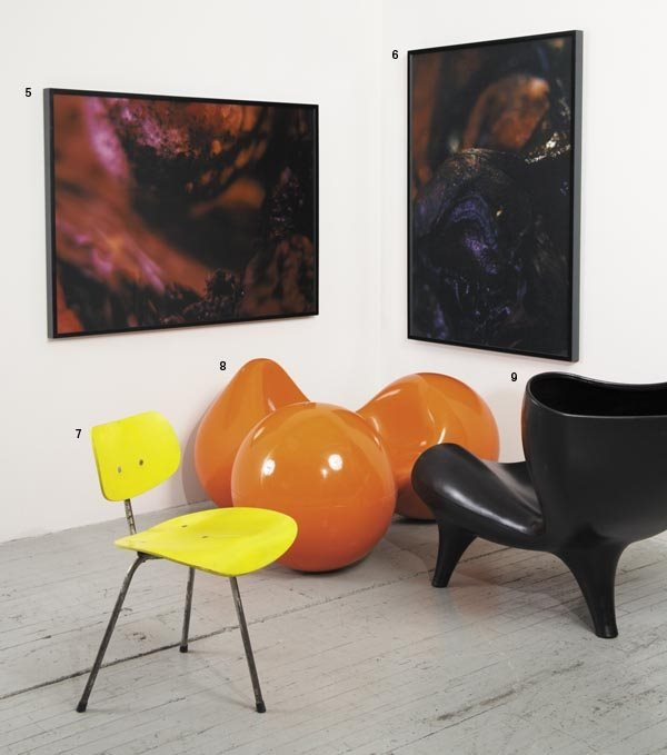 "1008:  EERO  AARNIO  b. 1932  ""Tomato"" chair, designed"