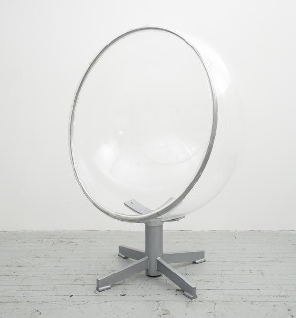 1013:    UNKNOWN DESIGNER    Chair, 1970s  Lucite, chro
