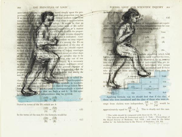 1018:  WILLIAM  KENTRIDGE  b. 1955  Serie Logic Drawing