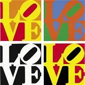 1342: ROBERT INDIANA b. 1928 Book of Love Portfolio