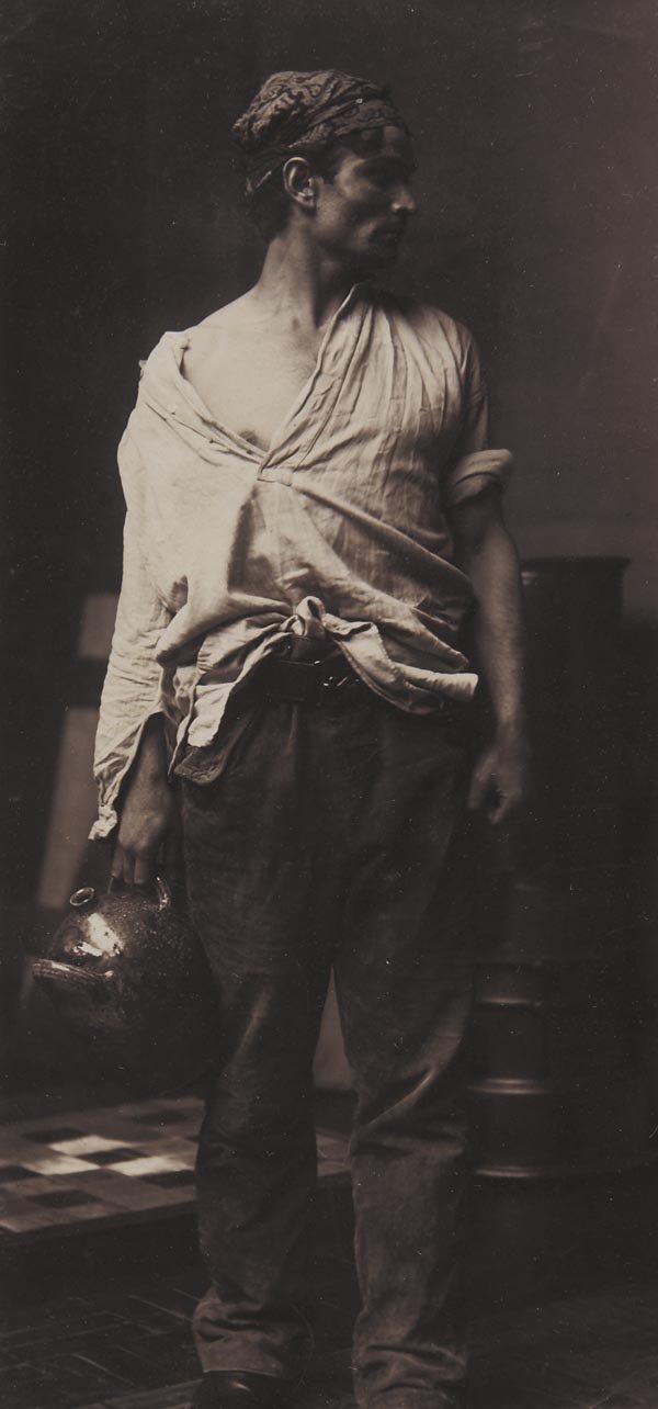 """70:  FRANK  BRANGWYN  1867-1956  Study for """"Potters"""" Pa"""