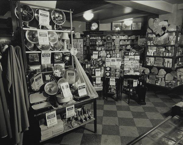 78:  BERENICE  ABBOTT  1898-1991  Whelan's Drug Store,