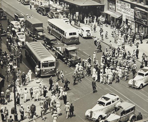 79:  BERENICE  ABBOTT  1898-1991  Herald Square, Manhat