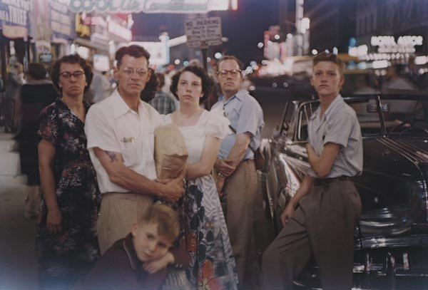 22:  LOUIS  FAURER  1916-2001  Family, Times Square, 19
