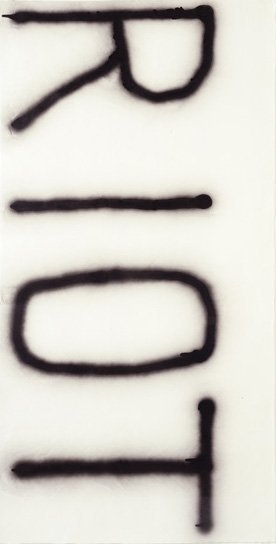 8:  CHRISTOPHER  WOOL  b. 1955  Untitled (Riot), 1990 &