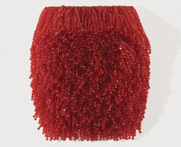 102:  PAOLA  PIVI  b. 1971  Untitled, 2004  Red plastic