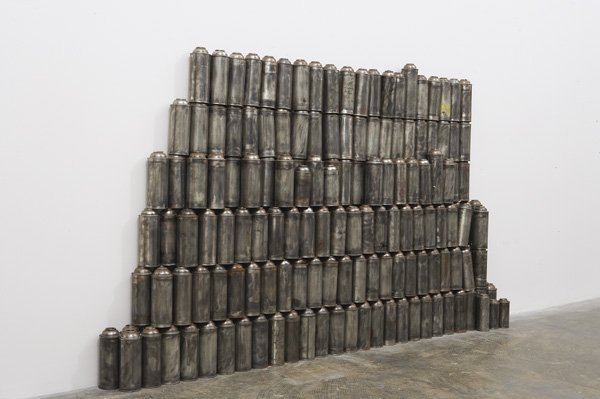 105:  BARRY  MCGEE  b. 1966  Untitled, 1999  230 cans o