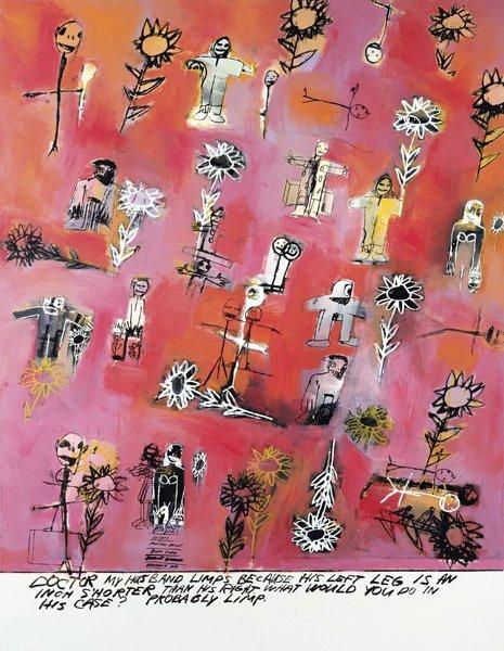 122:  RICHARD  PRINCE  b. 1949  Limp, 1999  Acrylic, si