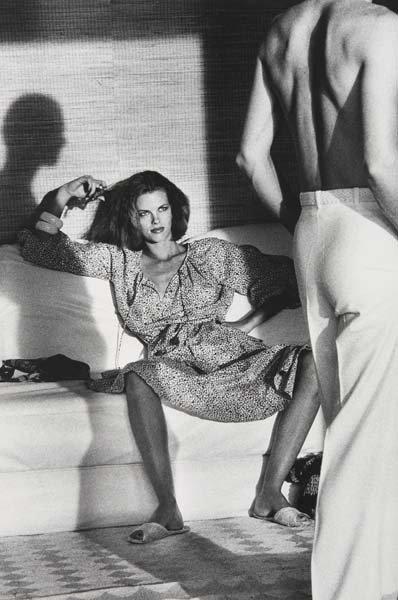 329: HELMUT NEWTON, 1920-2004 Woman examining man, U.S.