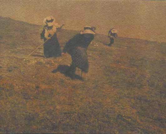 102: HEINRICH KUHN, 1886-1944 Landscape, circa 1914 Gu