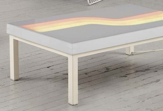 2003: PERITORE Illuminated table, 1970 Painted metal, a