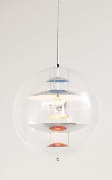 """2005: VERNER PANTON, 1926-1998 """"VP Globe"""" ceiling light"""