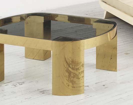 2010: KARL SPRINGER, 1931-1991 Coffee table, 1970s Bras