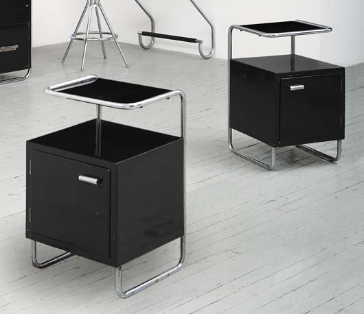 2019: MARCEL BREUER, 1902-1981 Desk and pair of side ta