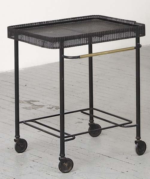 2023: MATHIEU MATÉGOT, 1910-2001 Serving cart, 1950s Pa