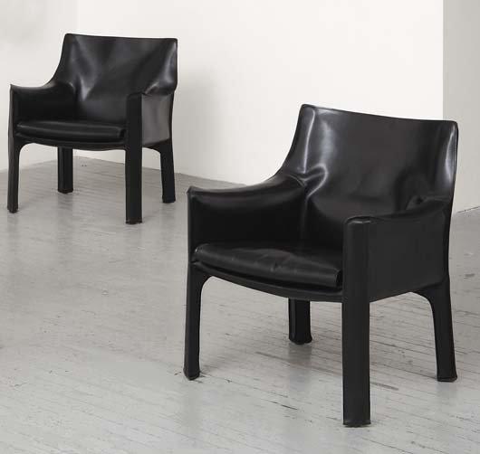 """2024: MARIO BELLINI, b. 1935 Pair of """"Cab"""" armchairs, d"""