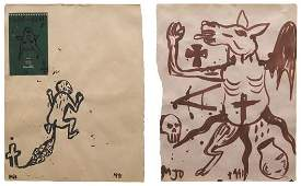 2184 MANUEL OCAMPO b 1965 Two works Untitled 1991