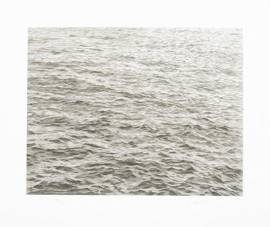 1012: VIJA CELMINS, b. 1938 Ocean with Cross #1, 2005 S