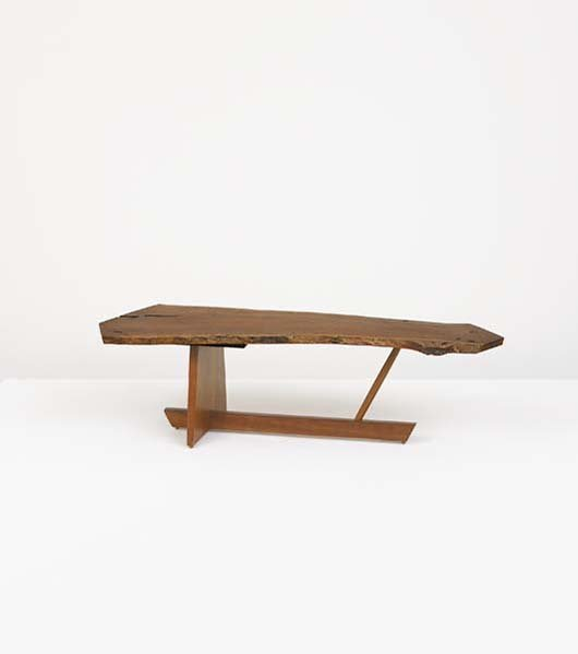 14: GEORGE NAKASHIMA, 1905-1990 Free-edge coffee table,
