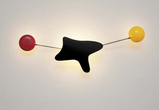 56: GINO SARFATTI, 1912-1985 Wall light, ca. 1950 Paint