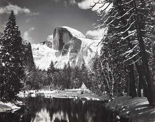 1020: ANSEL ADAMS, 1902-1984 Half Dome- Winter, 1938 Ge