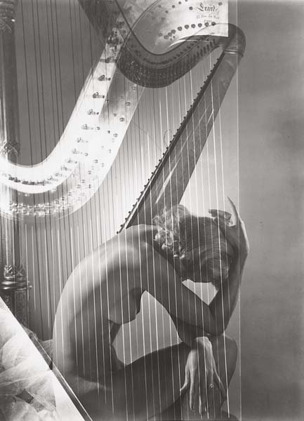 1024: HORST P. HORST, 1906-1999 Lisa with Harp, Paris,