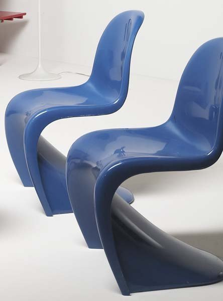 "8: VERNER PANTON, 1926-1998 Pair of ""Panton Chairs"", 19"