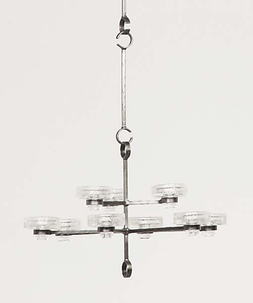11: ERIK HOGLUND, 1932-1998 Nine-arm chandelier, ca. 19