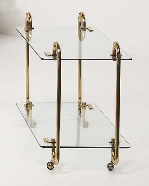 12: ATTRIBUTED TO FONTANA ARTE Bar cart, 1950s Glass, b