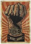 387: SHEPARD FAIREY, b. 1970 Rise Above Fist HPM, 2006
