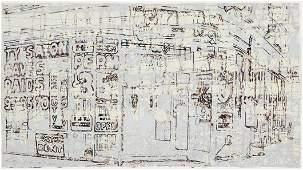 MARK BRADFORD, b. 1961 Untitled #1, 2004 Monoprin