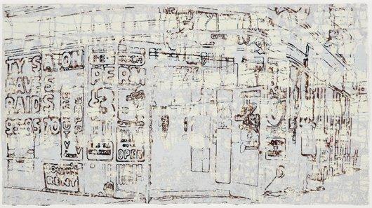 2002: MARK BRADFORD, b. 1961 Untitled #1, 2004 Monoprin