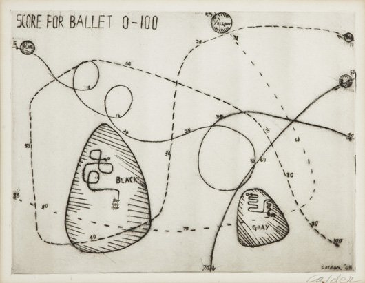 2005: ALEXANDER CALDER, 1898-1976 Score for Ballet 0-10