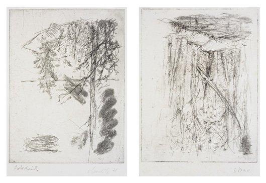 2013: GEORG BASELITZ, b. 1938 Baume Mappe: Ohne Titel,