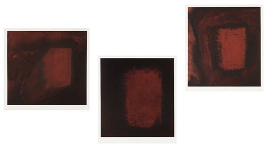 2014: ANISH KAPOOR, b. 1954 Untitled Triptych, 2001 The