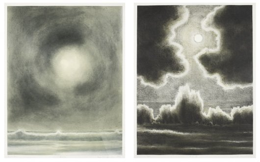 2017: APRIL GORNIK, b. 1953 Moon and Sea; and Sun and S