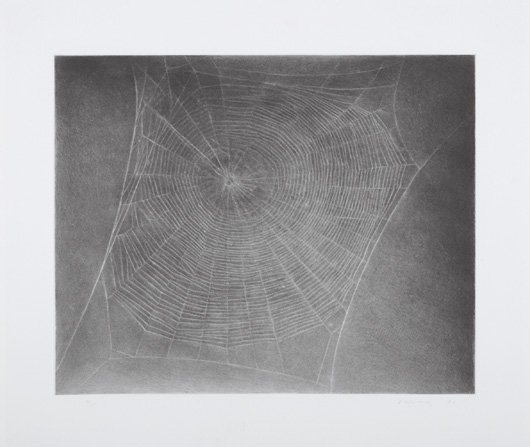 2019: VIJA CELMINS, b. 1938 Untitled (Web 4), 2002 Aqua