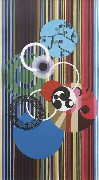 2024: BEATRIZ MILHAZES, b. 1960 Os cisnes (the Swans),